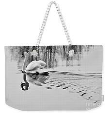 Swan Elegance Weekender Tote Bag by Simona Ghidini