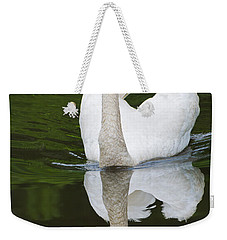 Weekender Tote Bag featuring the photograph Swan In Motion by Gary Slawsky