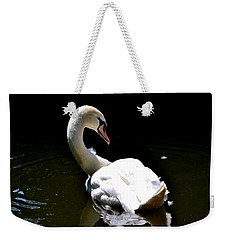 Weekender Tote Bag featuring the photograph Swan Lake by Deena Stoddard