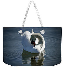 Weekender Tote Bag featuring the photograph Swan Lake by Pennie  McCracken