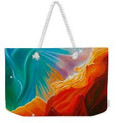 Swan Nebula Weekender Tote Bag by Barbara McMahon