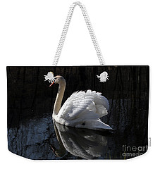 Weekender Tote Bag featuring the photograph Swan With Reflection  by Eleanor Abramson