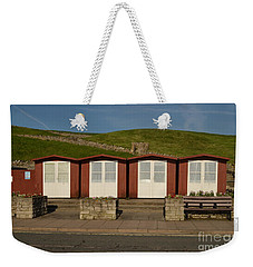 Swanage Beach Huts Weekender Tote Bag by Linsey Williams