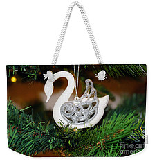 Weekender Tote Bag featuring the photograph Swans A Swimming by Cassandra Buckley