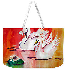 Swans In Love Weekender Tote Bag