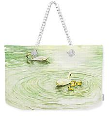 Swans In St. Pierre Weekender Tote Bag