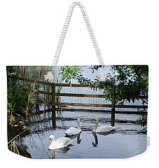 Swans In The Pond Weekender Tote Bag