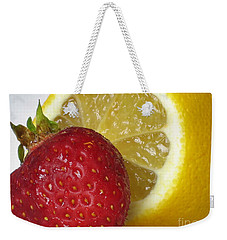 Weekender Tote Bag featuring the photograph Sweet And Sour by Nina Silver