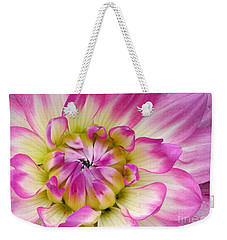 Weekender Tote Bag featuring the photograph Sweet Dahlia by Sami Martin