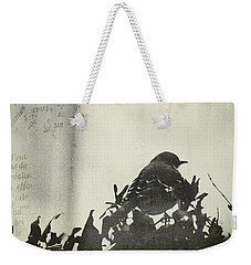 Weekender Tote Bag featuring the photograph Sweet Disposition by Trish Mistric