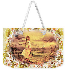 Weekender Tote Bag featuring the painting Sweet Memories A Trip To The Shore by Irina Sztukowski
