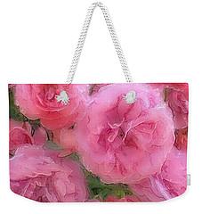 Sweet Pink Roses  Weekender Tote Bag by Gabriella Weninger - David