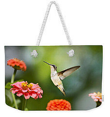Weekender Tote Bag featuring the photograph Sweet Promise Hummingbird by Christina Rollo