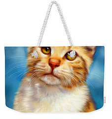 Sweet William Orange Tabby Cat Painting Weekender Tote Bag
