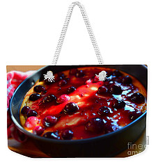 Sweetest Cheese Pie Weekender Tote Bag by Ramona Matei
