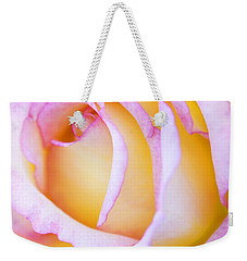 Weekender Tote Bag featuring the photograph Sweetness In Pink Rose by Marilyn Hunt
