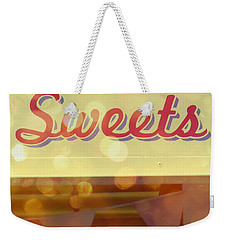 Sweets Weekender Tote Bag by Valerie Reeves