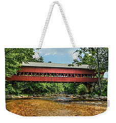 Weekender Tote Bag featuring the photograph Swift River Covered Bridge Hew Hampshire by Debbie Green