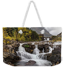 Swiftcurrent Falls In Autumn Weekender Tote Bag