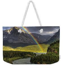 Swiftcurrent River Rainbow Weekender Tote Bag