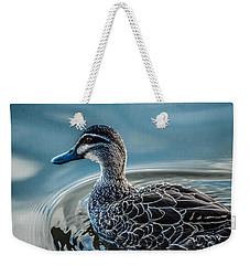 Weekender Tote Bag featuring the photograph Swimming Around  by Naomi Burgess