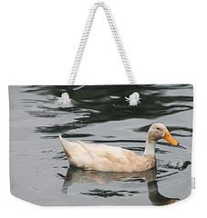 Swimming Duck Weekender Tote Bag by Pamela Walton