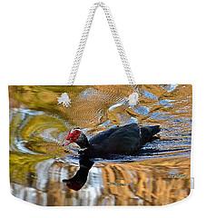 Swimming In Color Weekender Tote Bag by Carol  Bradley