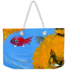 Swimming Of A Yellow Cat Weekender Tote Bag