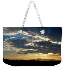 Weekender Tote Bag featuring the photograph Swirl Sky Landscape by Matt Harang