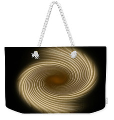 Weekender Tote Bag featuring the photograph Swirling Abstract Design by Charles Beeler