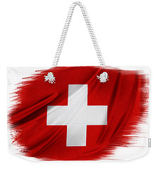 Swiss Flag Weekender Tote Bag