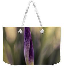 Siberian Iris Bud Weekender Tote Bag