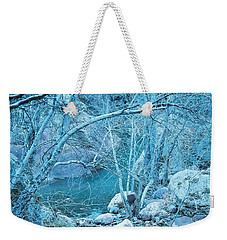 Weekender Tote Bag featuring the photograph Sycamores And River by Kerri Mortenson