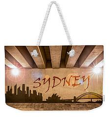 Sydney Graffiti Skyline Weekender Tote Bag by Semmick Photo