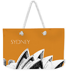 Sydney Skyline 3  Opera House - Dark Orange Weekender Tote Bag