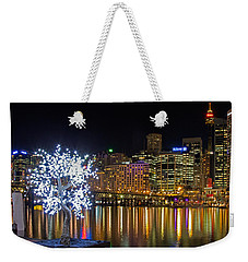 Sydney Skyline From Cockle Bay Weekender Tote Bag by Nicholas Blackwell
