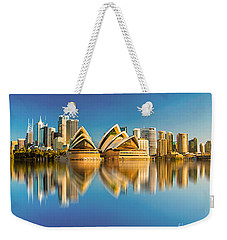 Sydney Skyline With Reflection Weekender Tote Bag by Algirdas Lukas