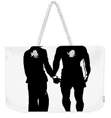 Sylvester Stallone And Talia Shire In Rocky Weekender Tote Bag