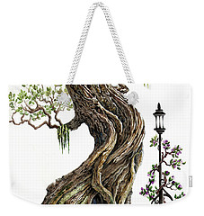 Sylvia And Her Lamp On White Weekender Tote Bag