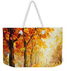 Symbols Of Autumn - Palette Knife Oil Painting On Canvas By Leonid Afremov Weekender Tote Bag