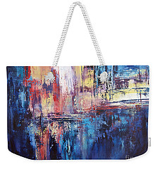 Symphony In Blue Weekender Tote Bag by Valerie Travers