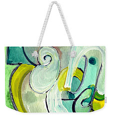 Weekender Tote Bag featuring the painting Symphony In Green by Stephen Lucas