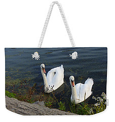 Weekender Tote Bag featuring the photograph Synchronicity by Lingfai Leung
