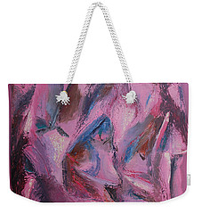 Weekender Tote Bag featuring the painting Syncopation 5 by Mini Arora