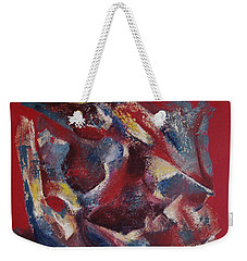 Weekender Tote Bag featuring the painting Syncopation by Mini Arora