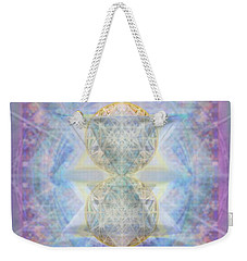 Synthecentered Doublestar Chalice In Blueaurayed Multivortexes On Tapestry Lg Weekender Tote Bag