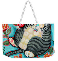 Tabby Cat On A Cushion Weekender Tote Bag