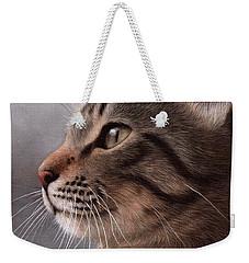 Tabby Cat Painting Weekender Tote Bag by Rachel Stribbling