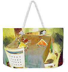 Table At The Fauve Cafe Weekender Tote Bag