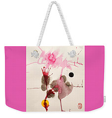 Weekender Tote Bag featuring the painting Table D' Hote by Roberto Prusso